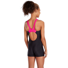speedo Boom Splice Legsuit Jenter black/electric pink
